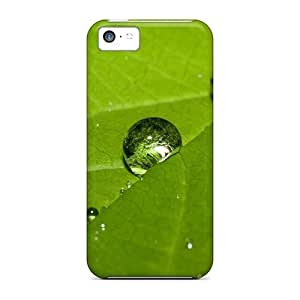 linJUN FENGAwesome Case Cover/iphone 5/5s Defender Case Cover(drops Water On Leaf Plants)