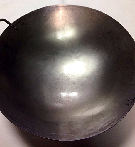 16 inch Carbon Steel Hand Hammered Wok (wok ring not included) ()
