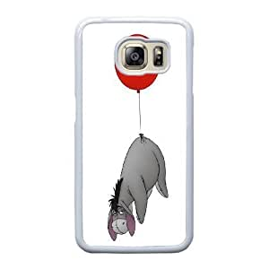 Grouden R Create and Design Phone Case,Eeyore Cell Phone Case for Samsung Galaxy S6 Edge White + 1*Touch Stylus Pen (Free) GHL-2870987