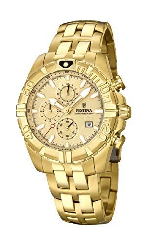 Men's Watch Festina - F20356/1 - Chronograph - Date - Gold-Plated - Festina Gents Watch