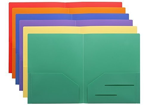 Stemsfx heavy duty plastic 2 pocket folder pack of 6 folders stemsfx heavy duty plastic 2 pocket folder pack of 6 folders assorted colors for letter size papers includes business card slot 1007 file folder colourmoves