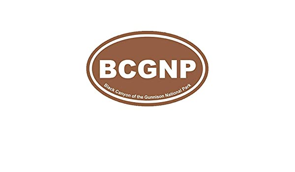 Kings Canyon National Park Brown Oval Sticker Decal Vinyl Euro KCNP