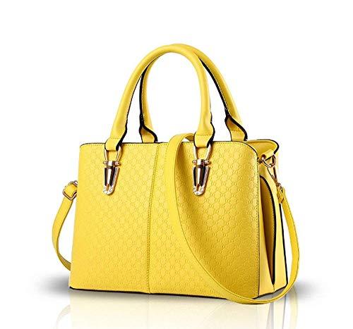 Affaires à Loisirs Bandoulière à Pour Main Yellow De Grande Femme Adapté Capacité Sac Sac Aux PU Aux Et dqOaxd