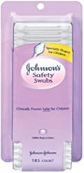 JOHNSON'S Safety Swabs 185 Each