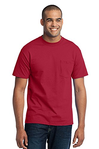 Port & Company Tall Core Blend Pocket Tee. PC55PT Red 4XLT