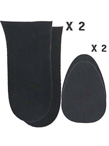 2 Right 12mm(1/2 Inch) Limb Leg Length Discrepancies Heel Inserts Insoles Fillers for Uneven - Leg Heel