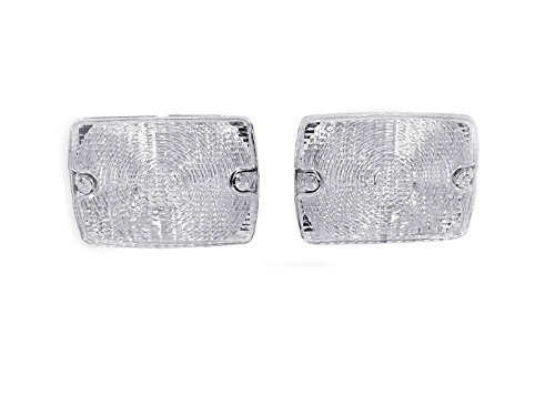 DEPO 1994-1995 Jeep Wrangler YJ Clear Front Bumper Signal Lights.