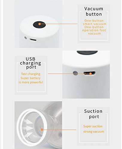 STARAYS Mini Scelleur, Pompe De Gonflage sous Vide Rechargeable À Main USB Machine De Scellage De Sac De Compression Portable, avec 5 Sacs sous Vide,Noir Black
