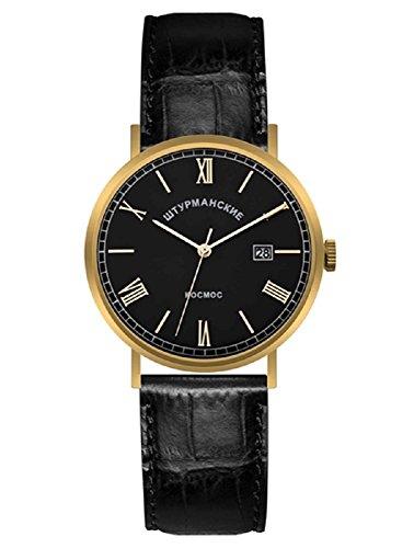 Sturmanskie Open Space Men's Analog Date Watch Goldtone and Black VJ21/3366860