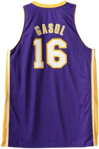 adidas - Camiseta de básquet, diseño de PAU Gasol #16 de Los Angeles Lakers NBA, Color Morado Talla:Mediano: Amazon.es: Deportes y aire libre