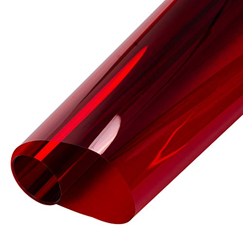 HOHOFILM 2Mil Red Tint Glass Film Window Film Glass Architectural Decorative Film for Home ()