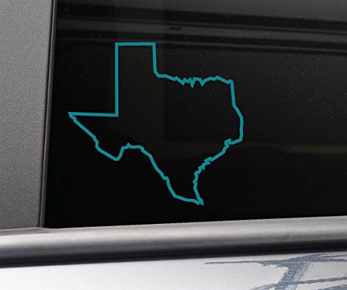 (Texas Vinyl Decal Laptop Car Truck Bumper Window Sticker, 5.5