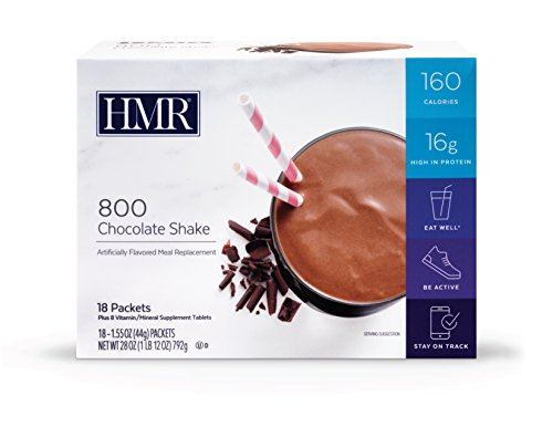 HMR 800 Shake, 18 Single-Serve Packets (Chocolate, 1 Pack)