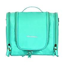 Zhi Jin Folding Travel Hanging Makeup Bag Organizer Toiletry Handle Storage Bags Large Capability Light Green