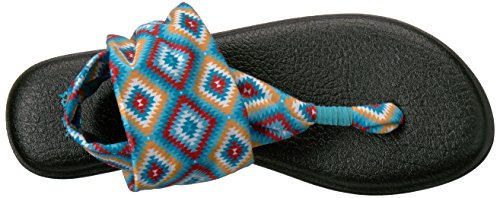 Sanuk Damen Yoga Sling#2 Spectrum Zehentrenner Mehrfarbig (The Ranch)