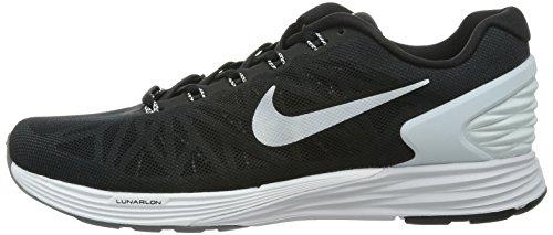 half off 1a685 399f7 NIKE Men s Lunarglide 6 Running Shoe Black Pure Platinum Cool Grey White  Size