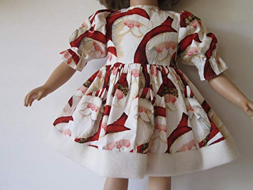 "Handmade Whimsical Santa Christmas Dress fits 23"" My Twinn - Great Fabric!!"