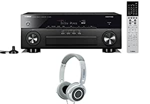 yamaha rx a860 7 2 channel network av receiver black with yamaha hph 200. Black Bedroom Furniture Sets. Home Design Ideas
