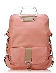 easygoal-Women's Casual Business Backpack Travel Backpack Laptop Bag Big Student School Bag(PEACH/DARK GREEN/MINT) (PEACH)