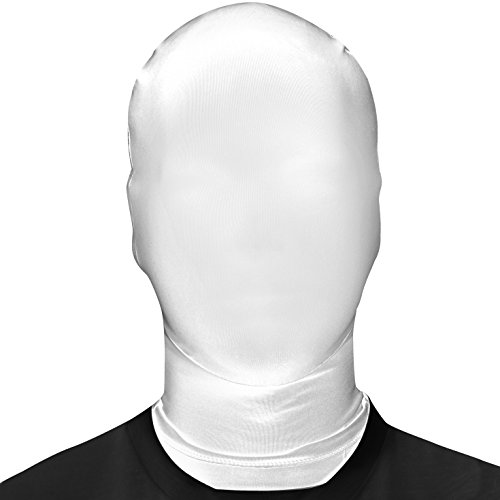 [Morphsuits Morphmask Original, White, One Size] (Yellow Morphsuit)