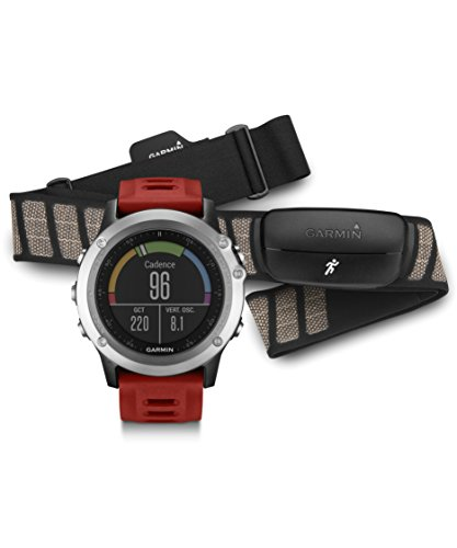 Garmin fenix 3, Silver bundle with Heart Rate Monitor