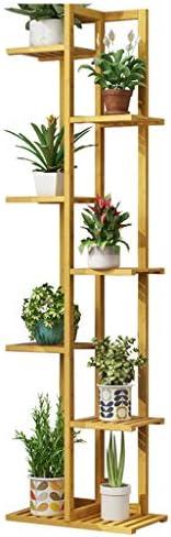 植物スタンド 屋内竹フロアスタンド植物スタンドガーデンフラワースタンドシンプルな棚のための7段のフラワーディスプレイラック フラワースタンド