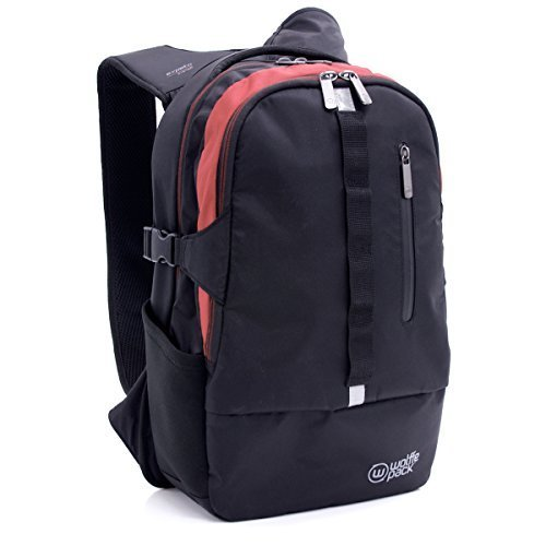 Wolffepack Escape Backpack - Award Winning Design - Laptop Rucksack Black by Wolffepack