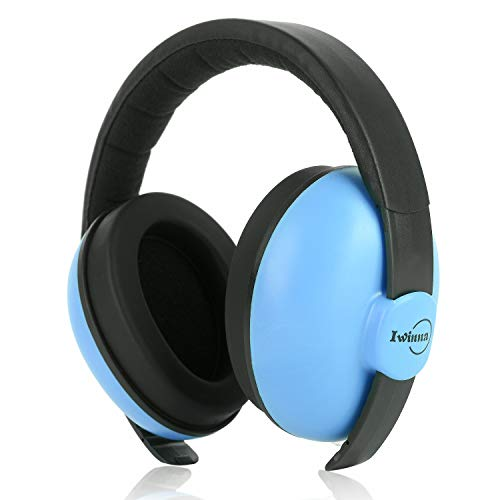 Baby Headphones Safety Ear Muffs Noise Reduction for Newborn Infant Autism Kids Toddlers Sound Cancelling Headphones for Sleeping Studying Airplane Concerts Movie Theater Fireworks, Blue by ILOVEUS (Image #5)