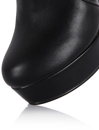 Ladies Toe Cone Womens Ladies Citior Black Boots Heel Toe Closed Round Womens Boots f65Wx8