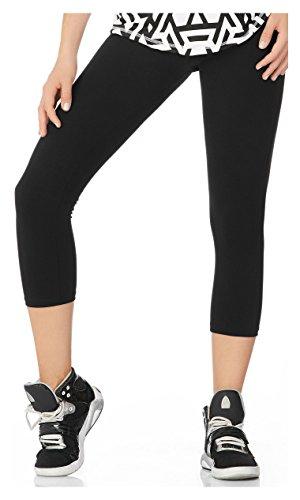Babalu Fashion Capri Tejido Supplex One Size Activewear Workout Pants Trousers 16333 Negro One Size