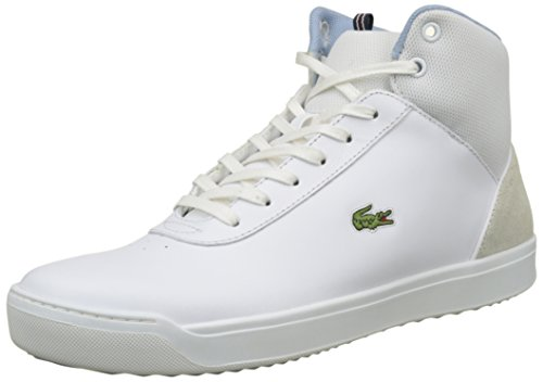 Lacoste Explorateur Ankle 317 2, Entrenadores Altas para Mujer Blanco (Wht)