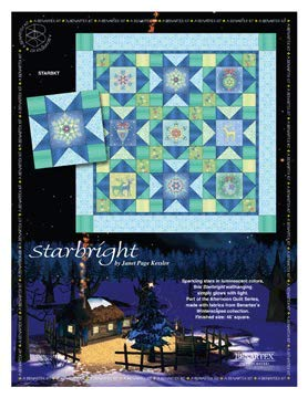 Benartex Starbright Quilt Kit by Janet Page Kessler Pre-Cut from The Winterscapes Collection