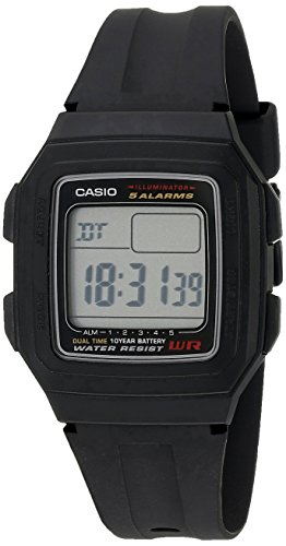 Casio F201WA 1A Black Resin Digital