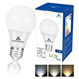 Cheap Warmoon LED Light Bulbs, 7W DSW 3-in-1 White Non Dimmable LED Bulbs 60W Equivalent E26 Base Energy Saving Light Bulbs for Kitchens Living Rooms Dining Rooms Office Study