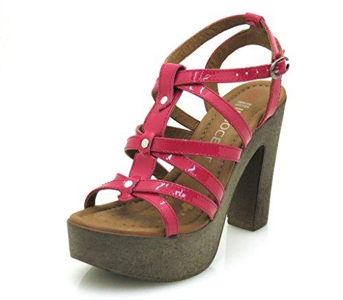 Innocent High-Heel-Sandalette High Heel Leder Schuhe Lackleder 124-SS06 Pink