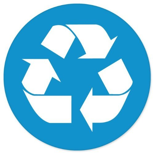 Blue Recycle SIGN Logo Circle sticker decal 4