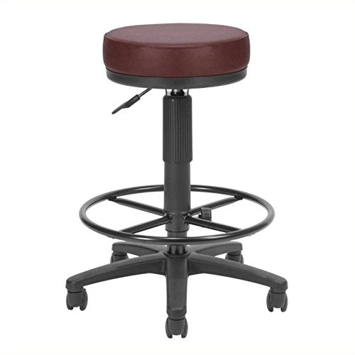 OFM Anti-Bacterial Utility Stool with Drafting Kit, Green ()