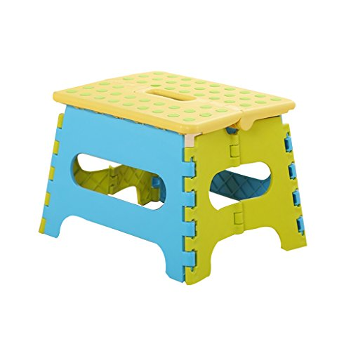 (NYDZDM Thick Plastic Household Folding Stool Outdoor Portable Fishing Stool Bath Stool Shower Bench Shoe Bench 3 Color (Color : A, Size : One))