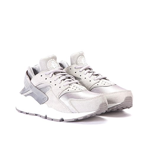 77cef4105907 Nike Women Air Huarache Run Premium Suede (medium grey   off white-flat  pewter