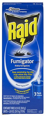 SC Johnson 74249 Raid Fumigator Fogger, 3 Pack