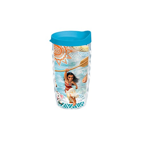 Tervis Disney Moana Adventures 10oz Wavy Tumbler with Turquoise Lid, Clear