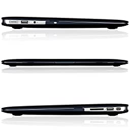 Kuzy - AIR 13-inch BLACK Rubberized Hard Case for MacBook Air 13.3\
