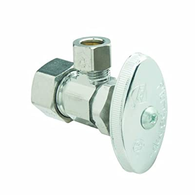 BrassCraft PSB52X Multi Turn Angle Water Shut Off Valve, Chrome Plated