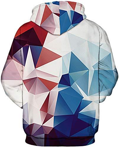 Longues Fête Motif Imprimé rouge À Manches 3d Blanc Eudolah De Homme Bleu Sweat Capuche 1 Toussaint Thème ARv0HqX
