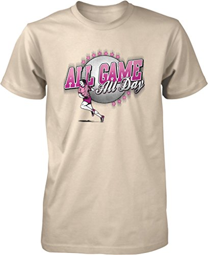 All Game, All Day Women's Lacrosse, LAX Men's T-shirt, NOFO Clothing Co. XXXL Putty (Lacrosse Gait Net)