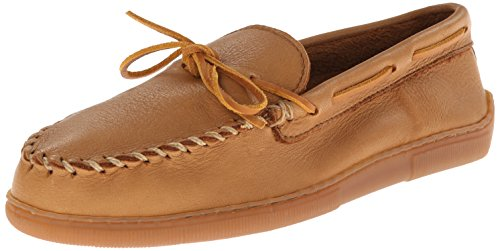 Minnetonka Men's Moosehide Classic Moccasin,Natural Moose,9 M US - Moc Natural