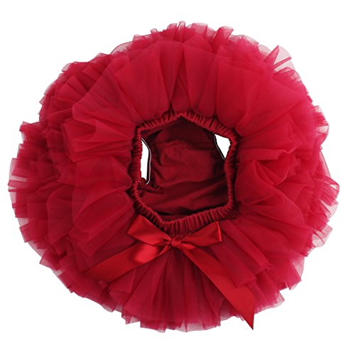 Price comparison product image Slowera Baby Girls Soft Tutu Skirt ( Skorts ) 0 to 24 Months (S: 6 Months,  Wine Red)