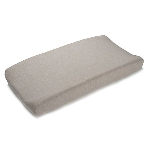 Liz and Roo Flax Linen Contoured Changing Pad Cover, Flax