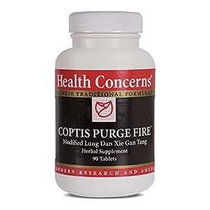 Health Concerns - Coptis Purge Fire - Modified Long Dan Xie Gan Tang Herbal Supplement - 90 Tablets