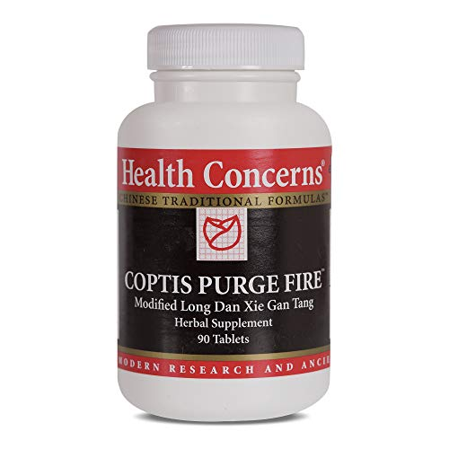 Health Concerns - Coptis Purge Fire - Modified Long Dan Xie Gan Tang Herbal Supplement - 90 Tablets -